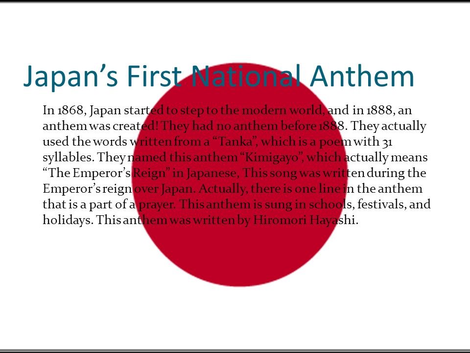 Kimigayo: The National Anthem of Japan