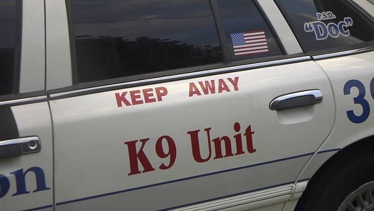 Close to a K-9 Police Car