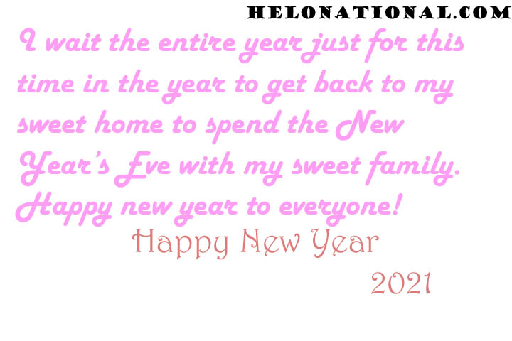 happy New year 2021 Family wishes