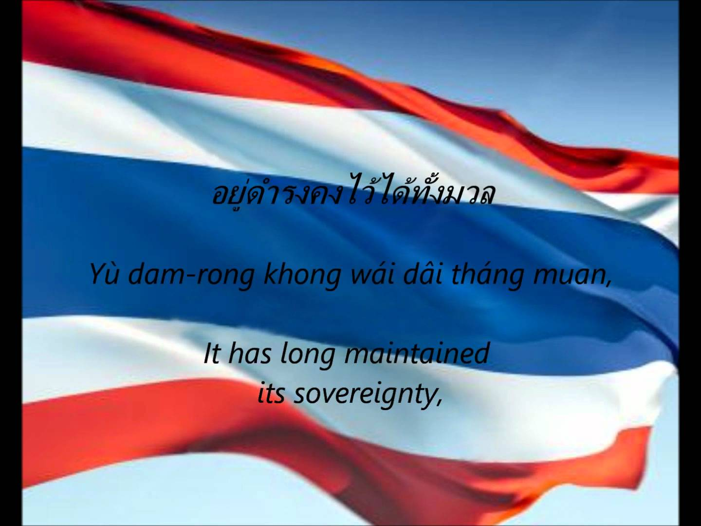 Phleng Chat Thai - The National Anthem of Thailand