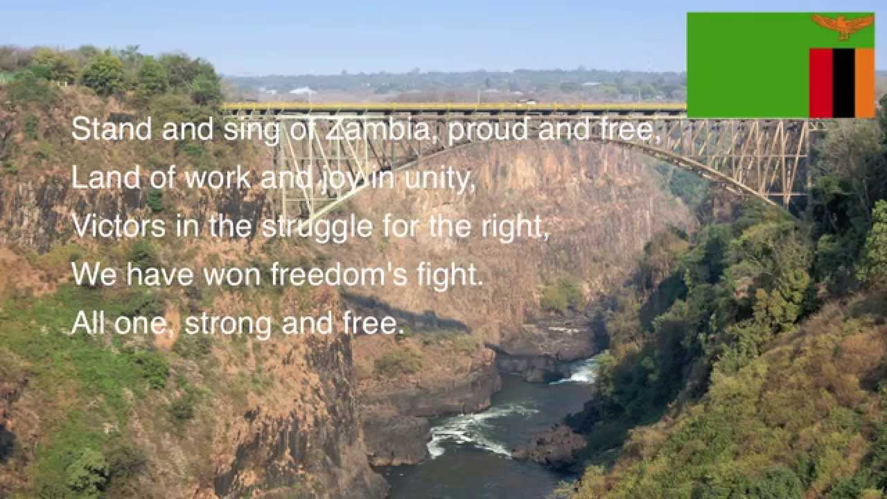 Stand and Sing of Zambia, Proud and Free: The National Anthem of Zambia