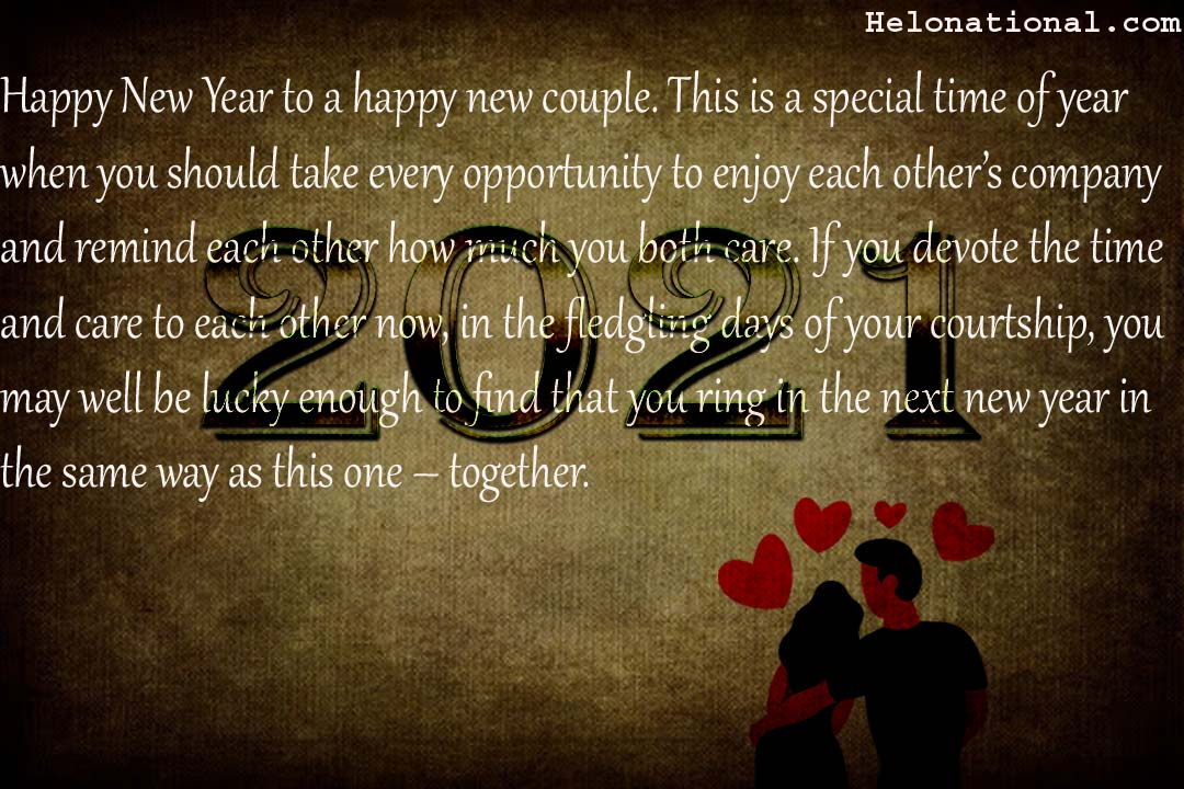 Couple wishes 2021