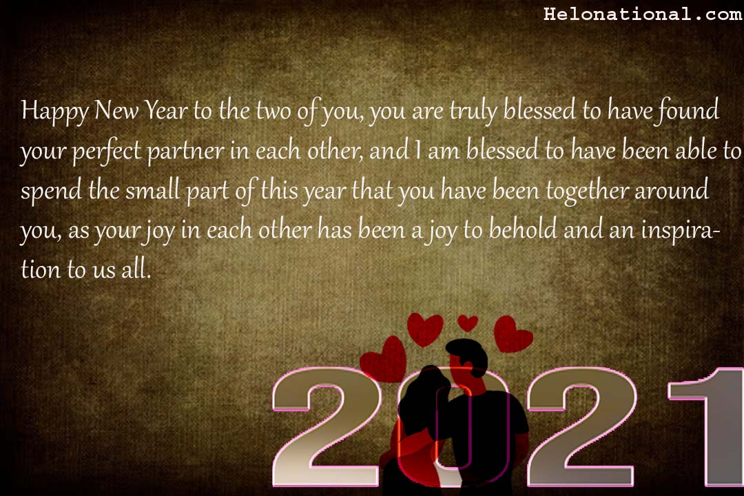 Happy New YEar 2021 Couples wishes