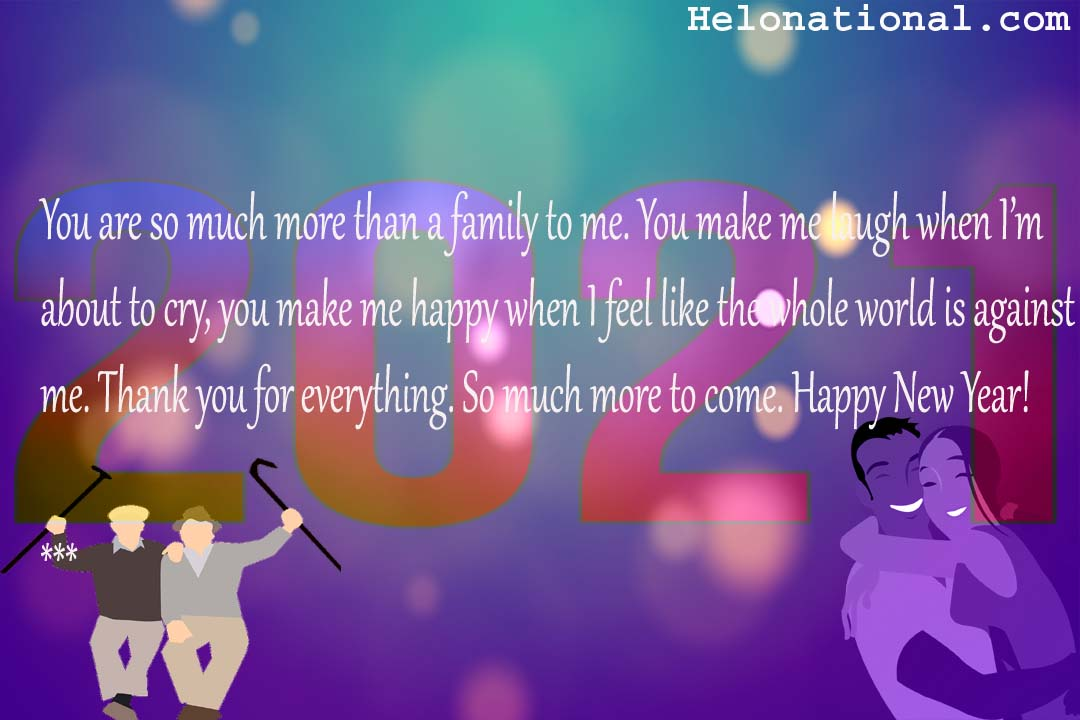 happy new year wish for family