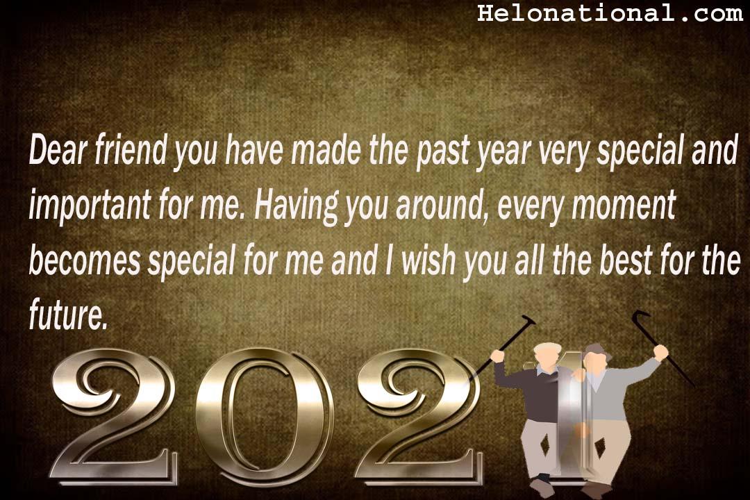 wish you a happy new year friend
