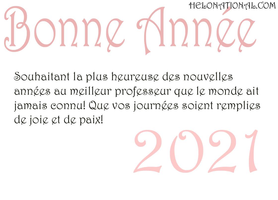 2021 Voeux de bonne année pour les enseignants