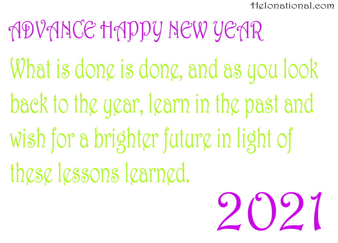Advance Happy New year 2021 QUOTEs