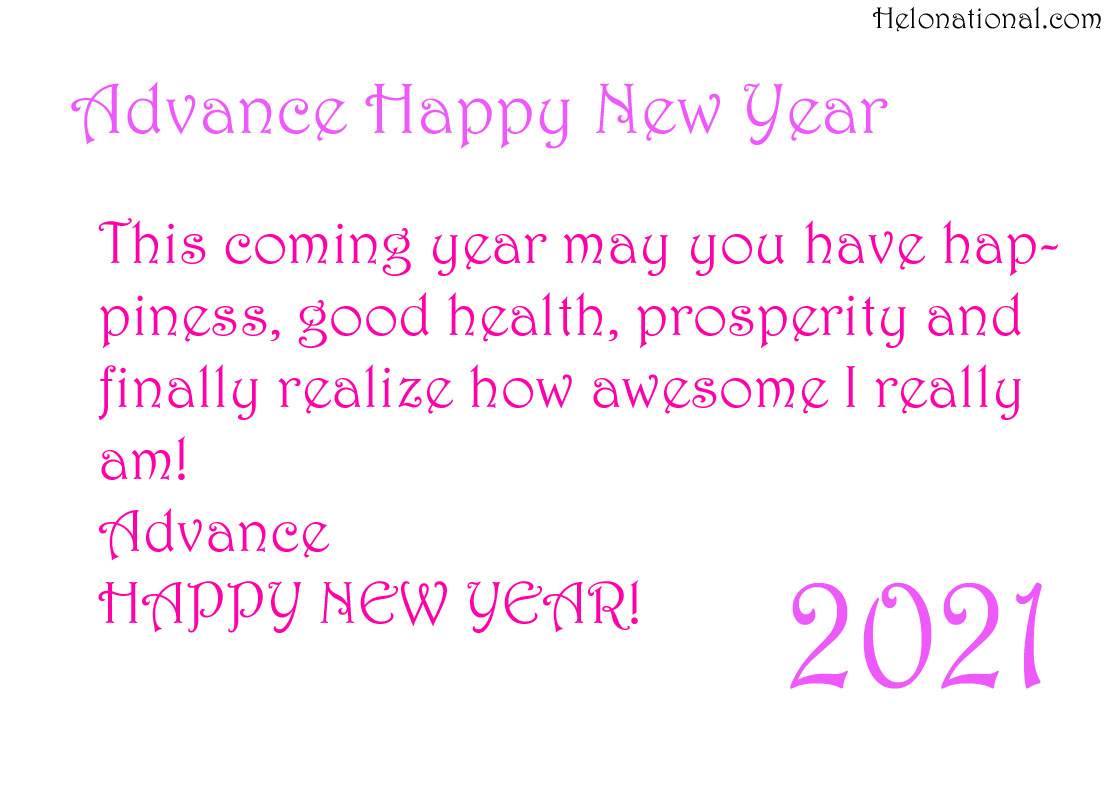 Advance Happy New year