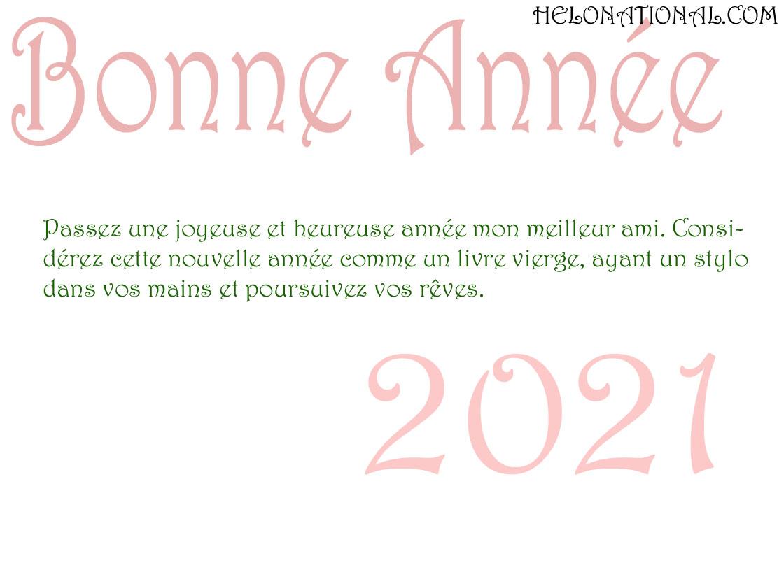 Bonne Année 2021 Pour Les Amis