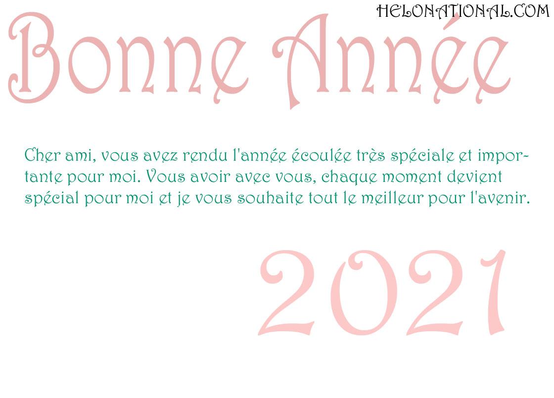 Bonne Année 2021 Voeux Pour Les Amis