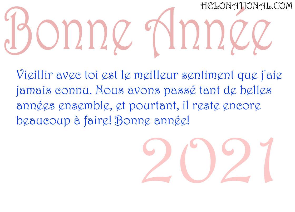 Bonne Année 2021 d'amour voeux