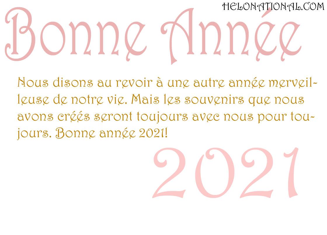 Bonne Année 2021 voeux d'amour