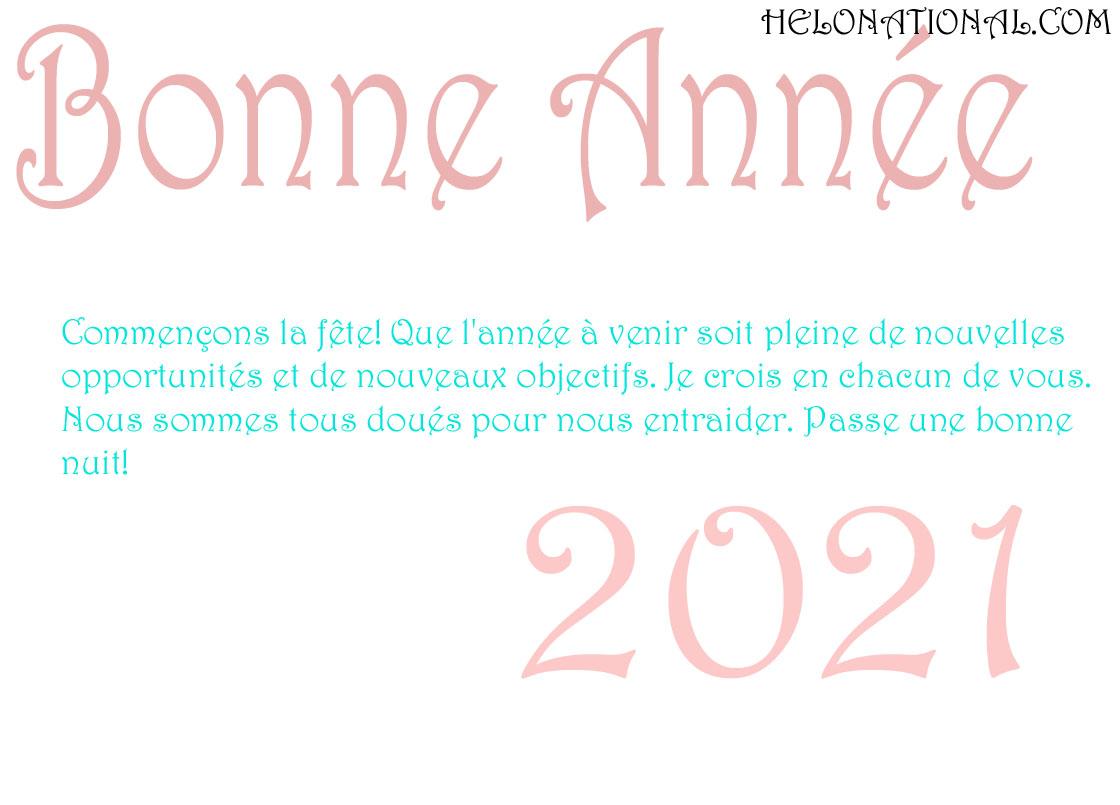Bonne Annee 2021 vœux de famili