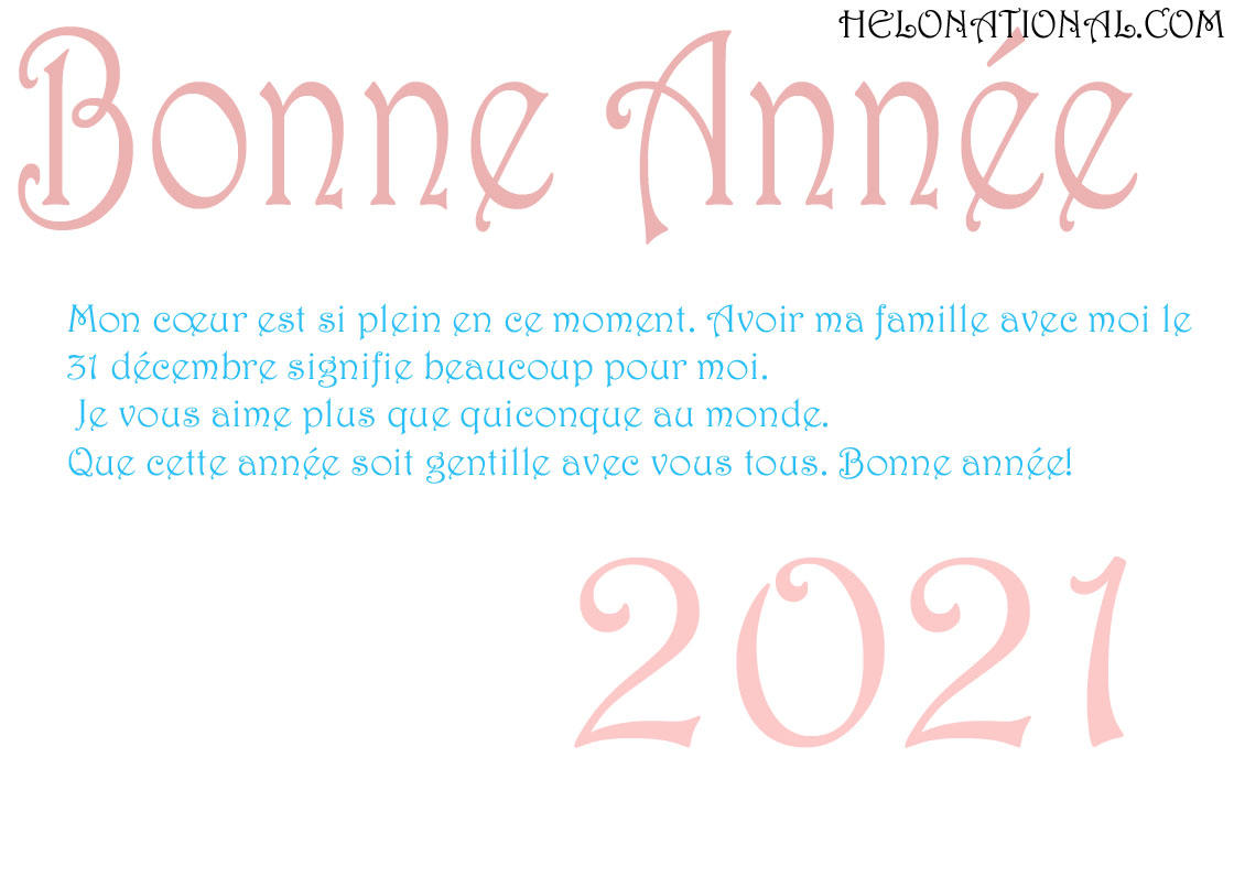 Bonne Annee 2021 vœux