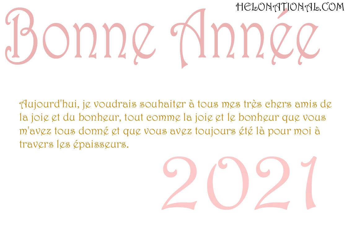 Bonne Année Pour Les Amis 2021