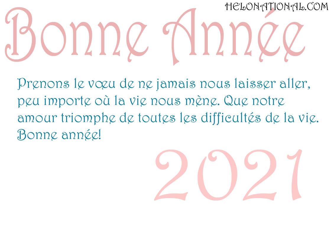 Bonne Année voeux d'amour 2021