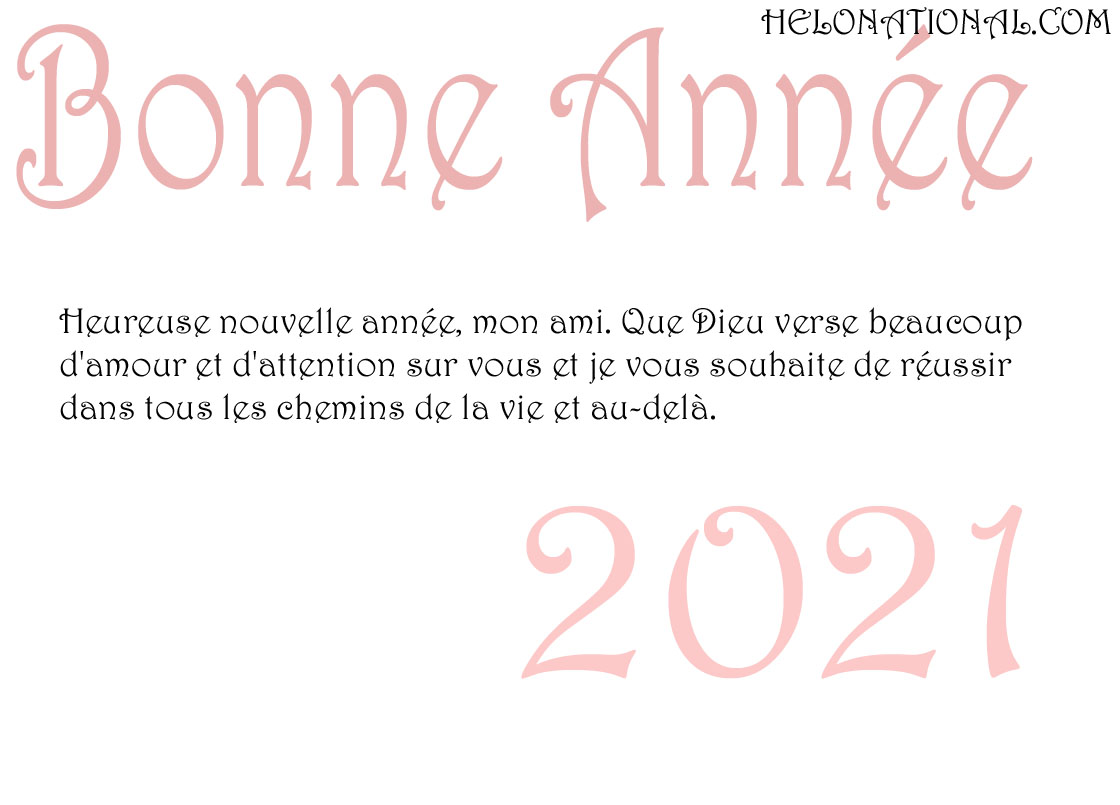 Bonnee Annee 2021 friends