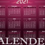 Happy New Year 2021 Calendar | All New Year 2021 Events List