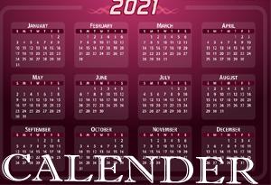 HNY 2021 Calender