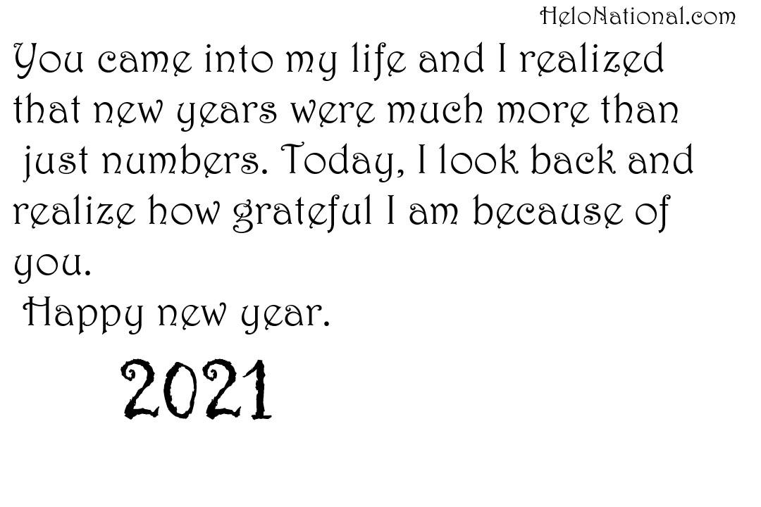 HNY 2021 Wishes for gf