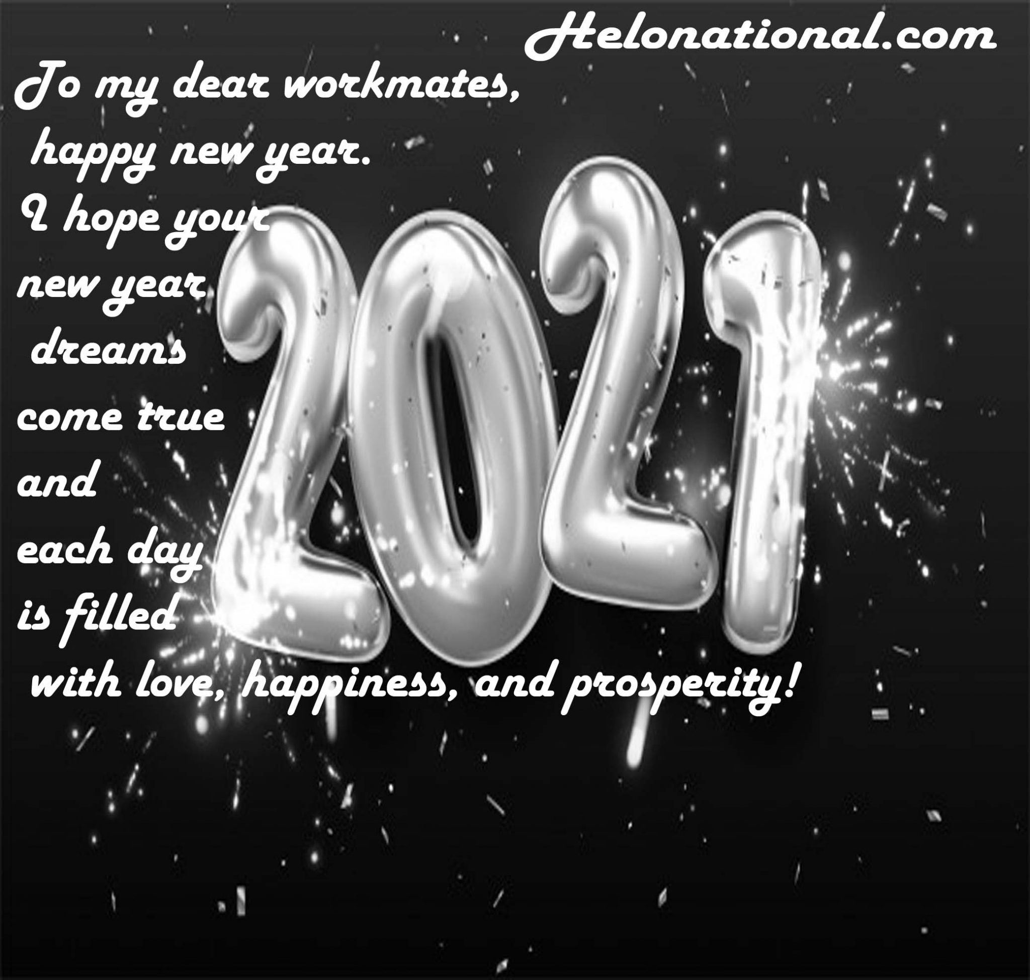 HNy 2021 messages for colleagues