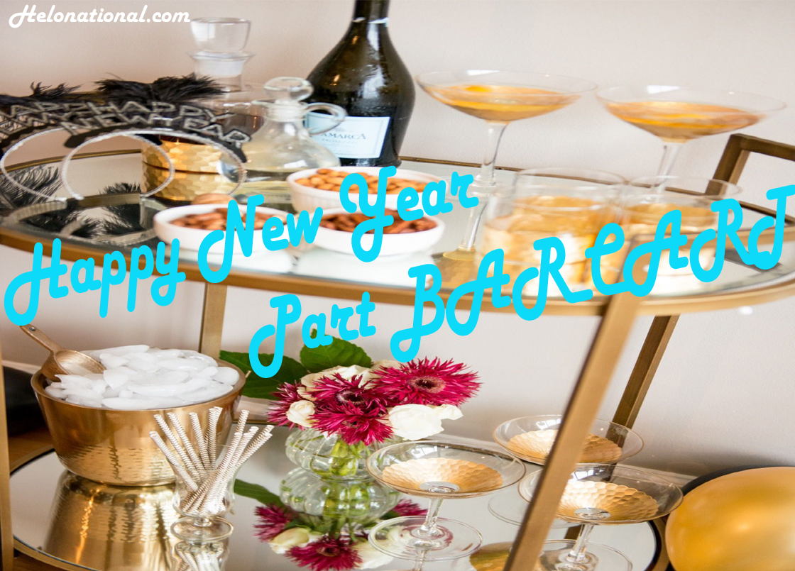 Happy New Year Party Bar Cart