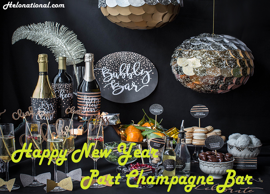 Happy New Year Party The champagne BAR