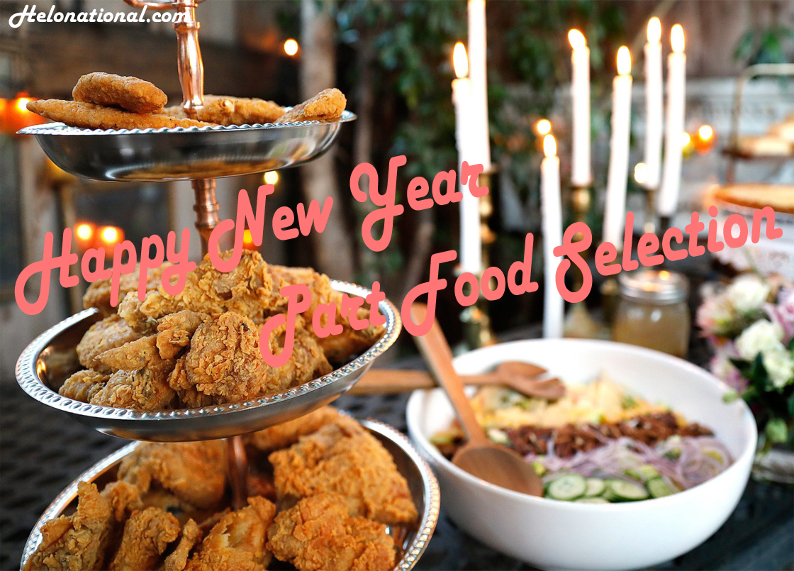 Happy New Year Party food