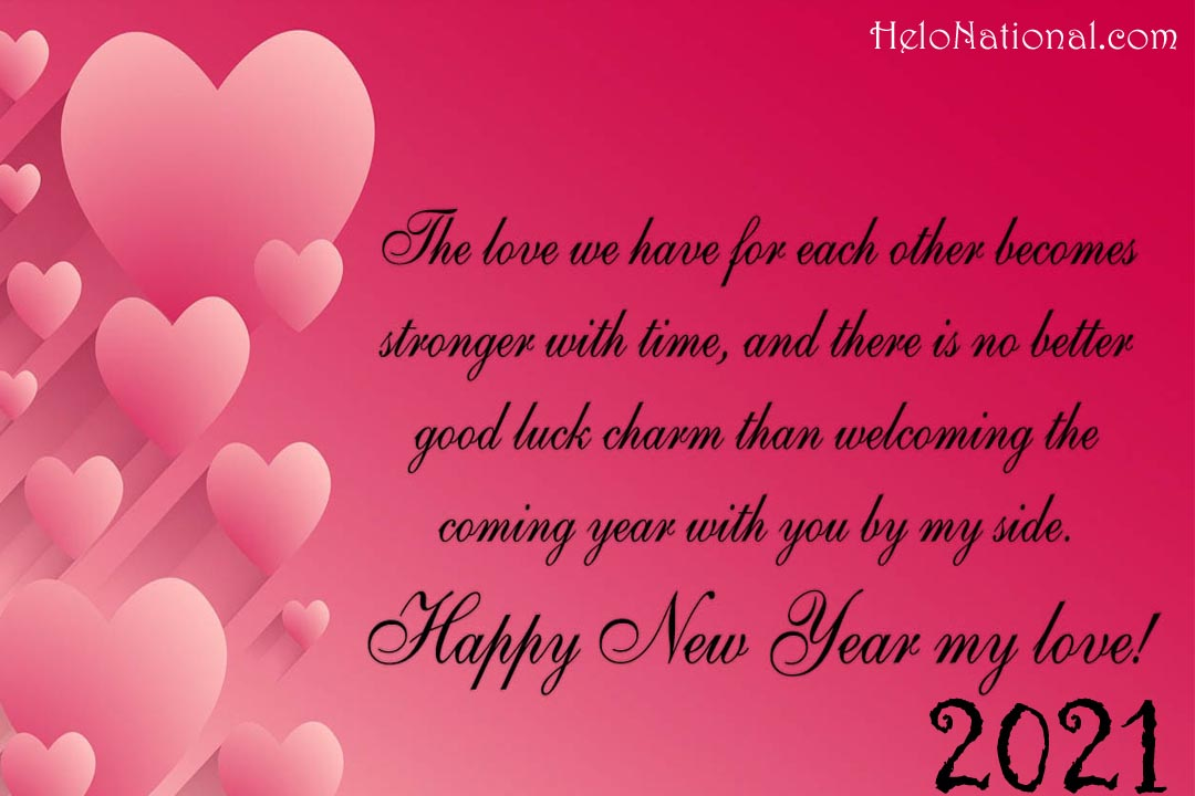 Happy New Year Wishes 2021 for Girlfriend