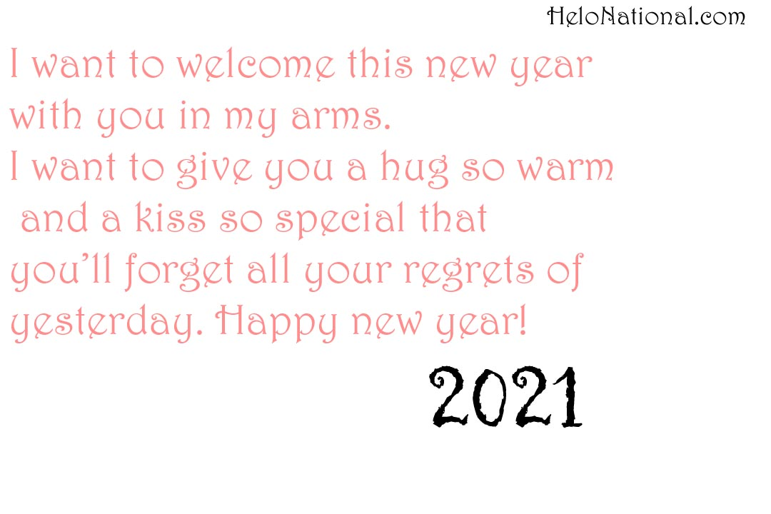 Happy New Year Wishes 2021 for gf