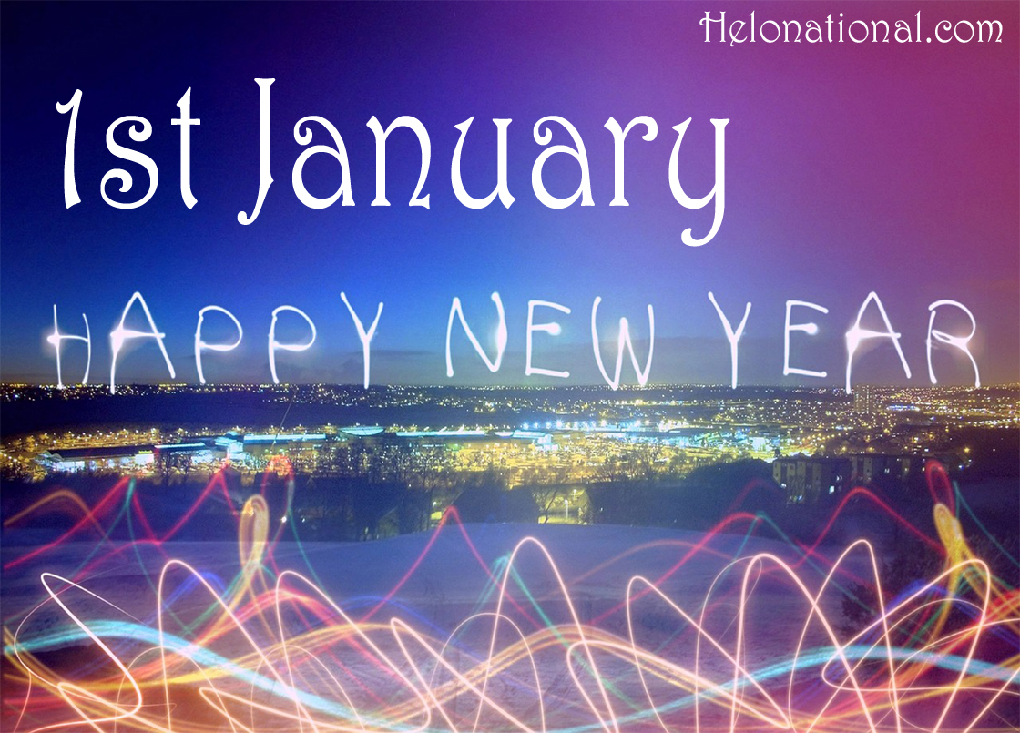 Happy new year 1st january