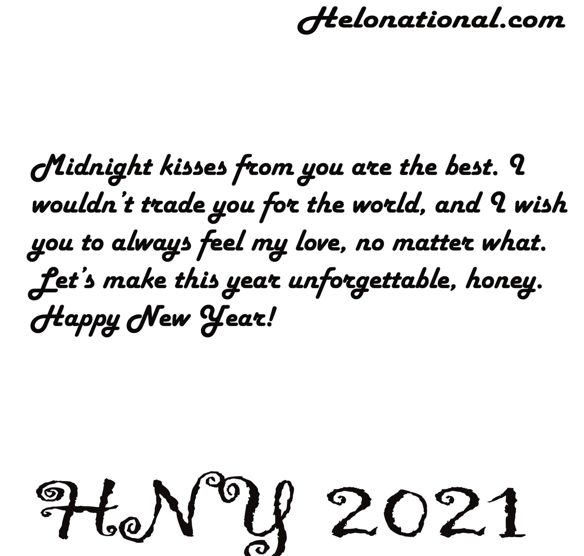 Happy new year 2021 love