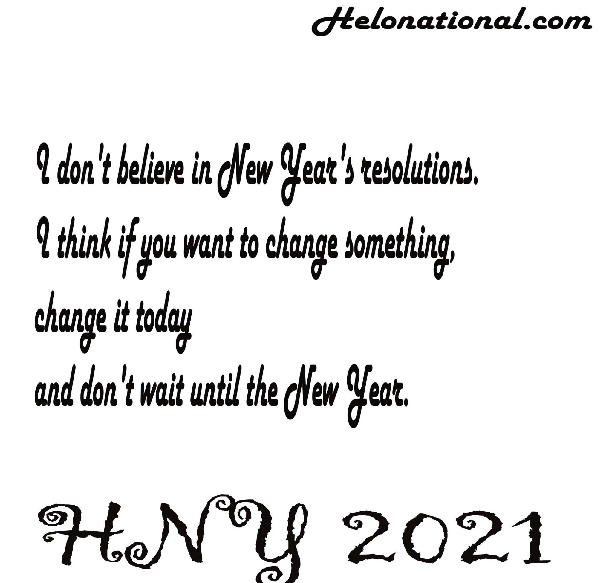 Happy new year 2021 resolution quotes