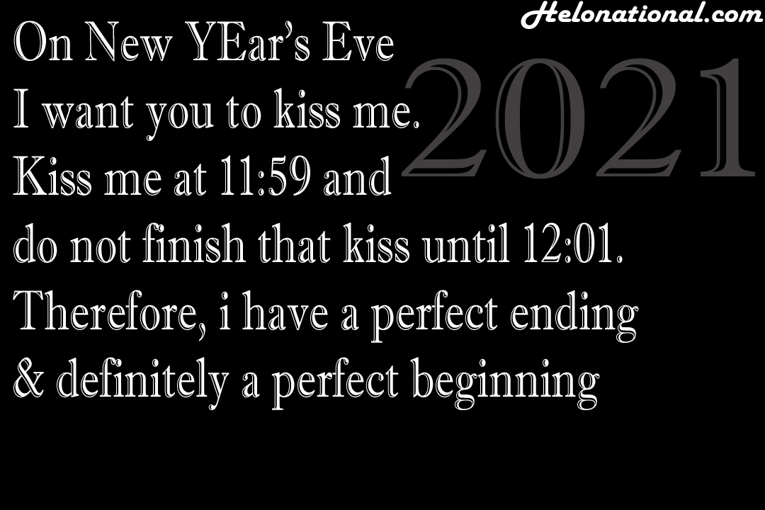 Happy new year 2021 romantic love quotes