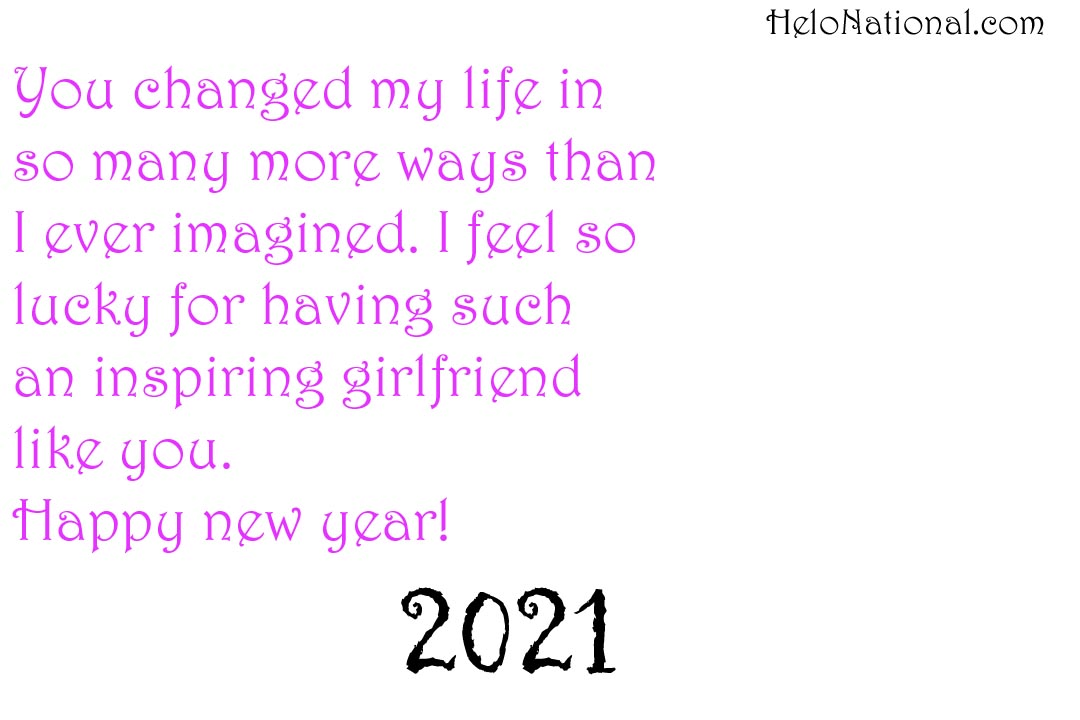 New Year Wishes 2021 for gf