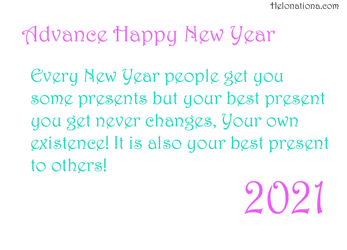 advance happy new year sms 2021