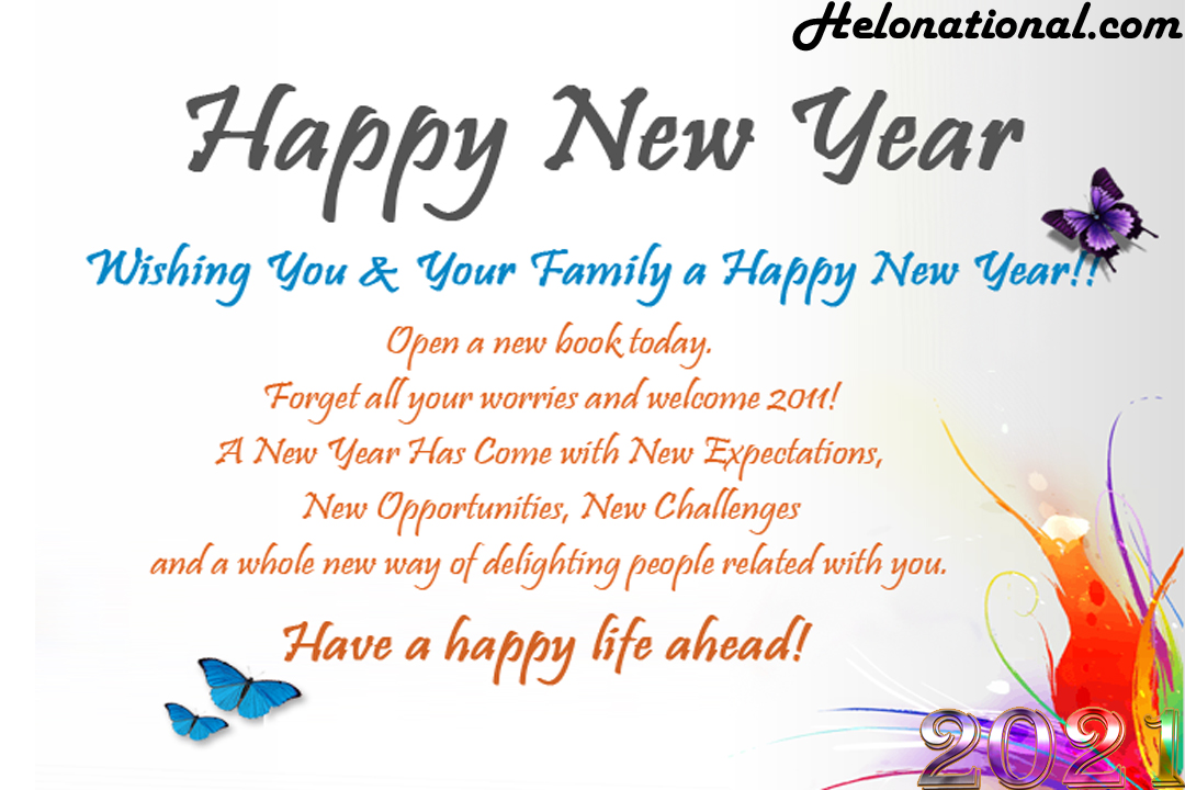 happy new year 2021 family