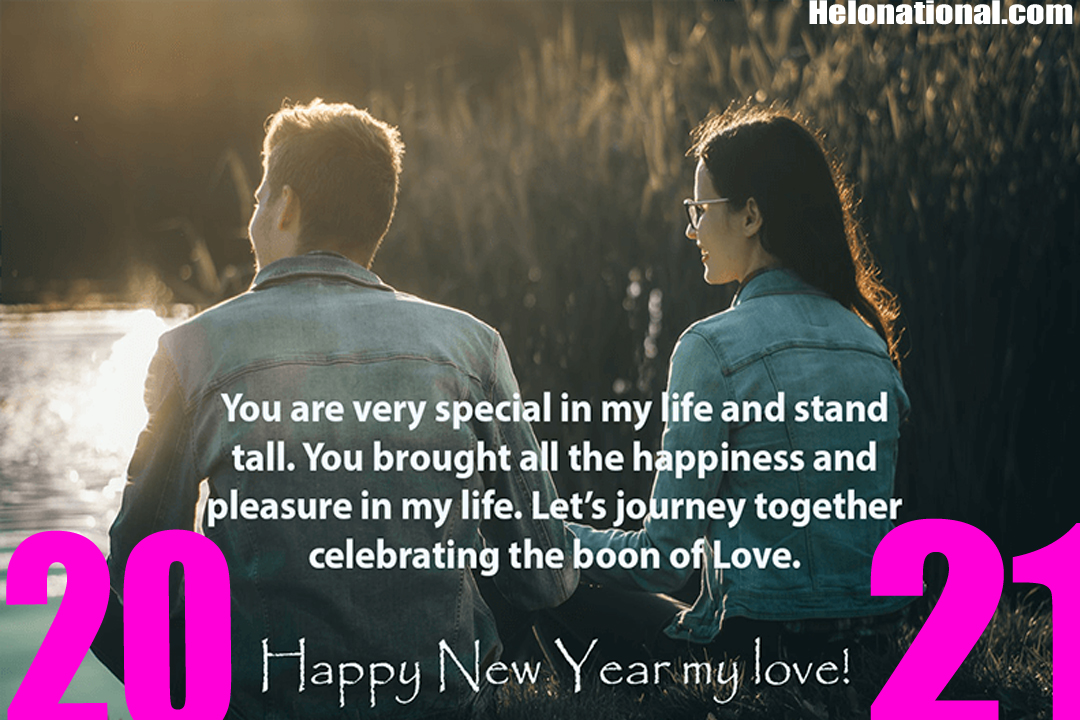 Happy new year 2021 romantic wishes