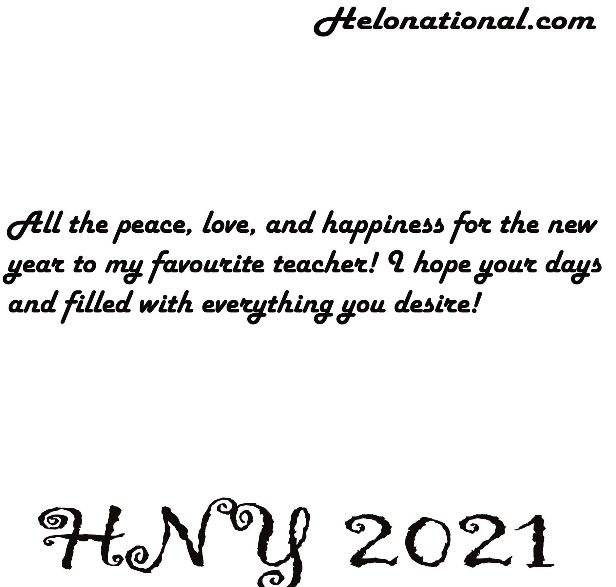 happy new year 2021 wishes for teachers