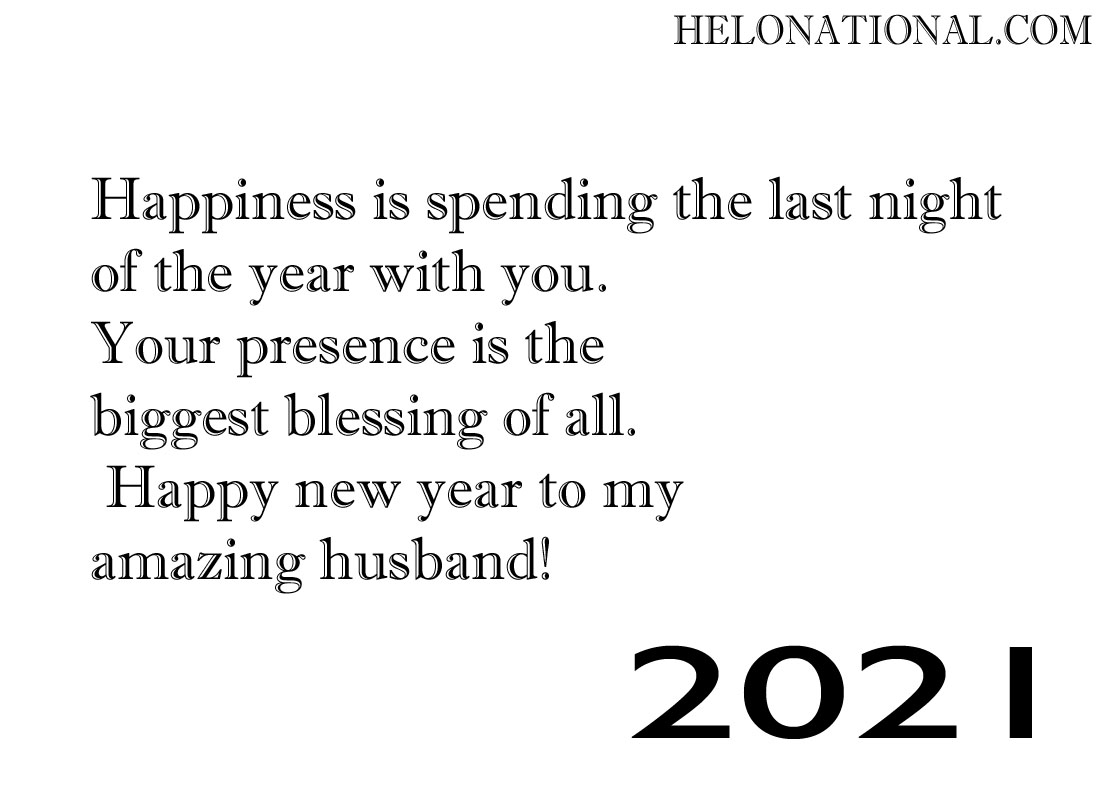 Best happy new year wishes 2021 husband