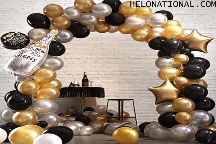 HNY DECORATION Rose Gold Fans