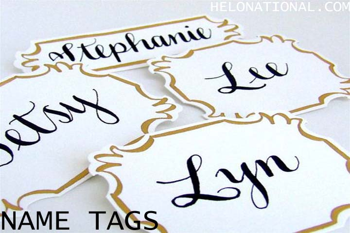 Happy New Year 2021 Decoration Nametags