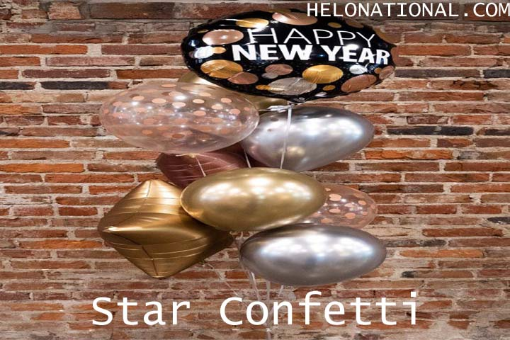 Happy New Year 2021 Decoration Star Confetti