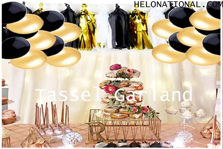 Happy New Year 2021 Decoration Tassel Garland