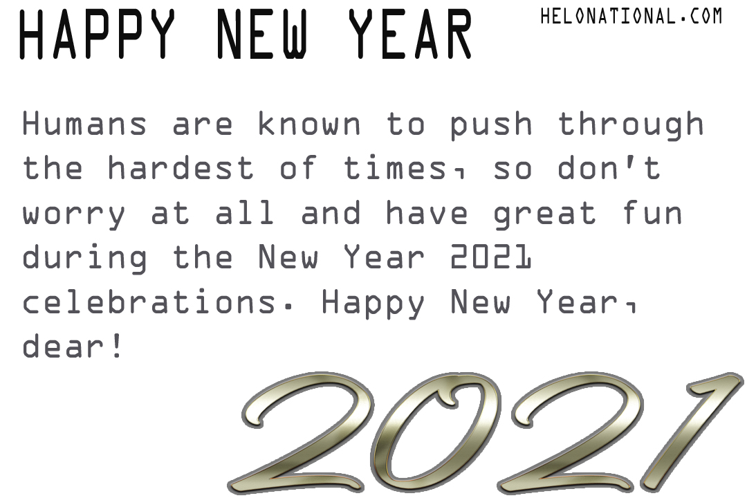 Happy New Year 2021 Quarantine wishes