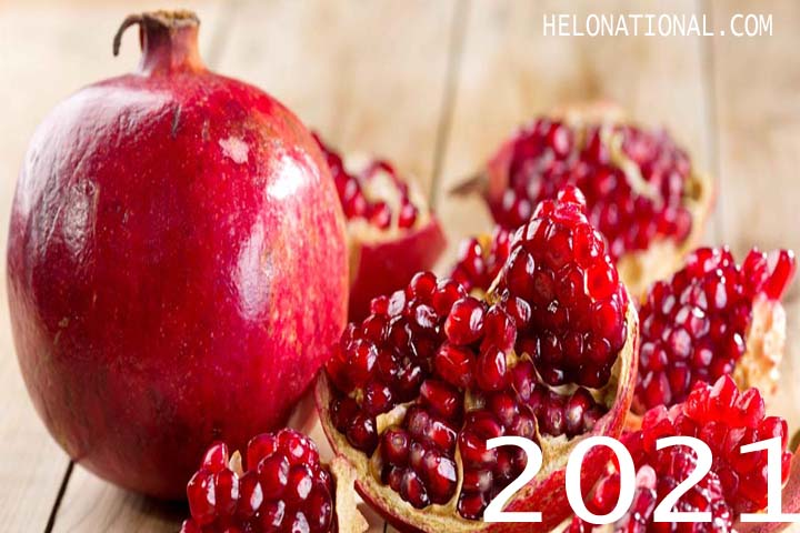 New Year 2021 Food Pomegranate