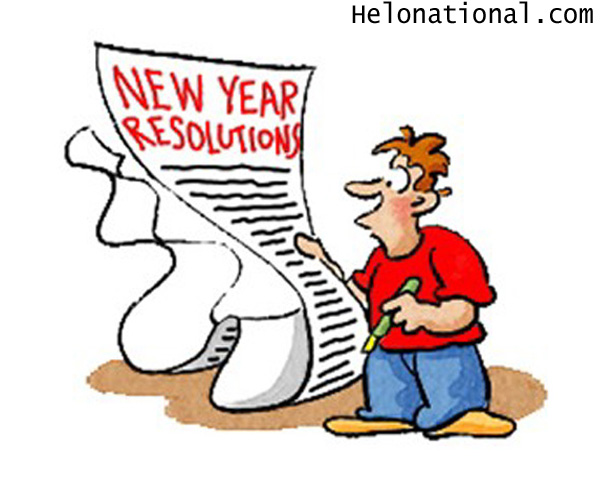 New year 2021 Resolution clipart