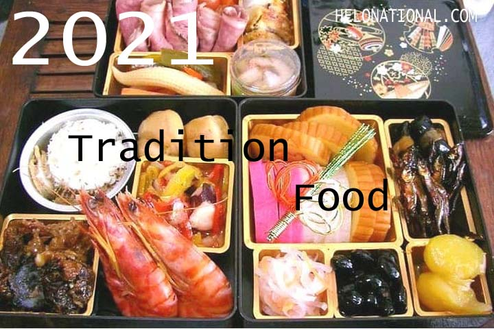 Happy new year 2021 traditional food