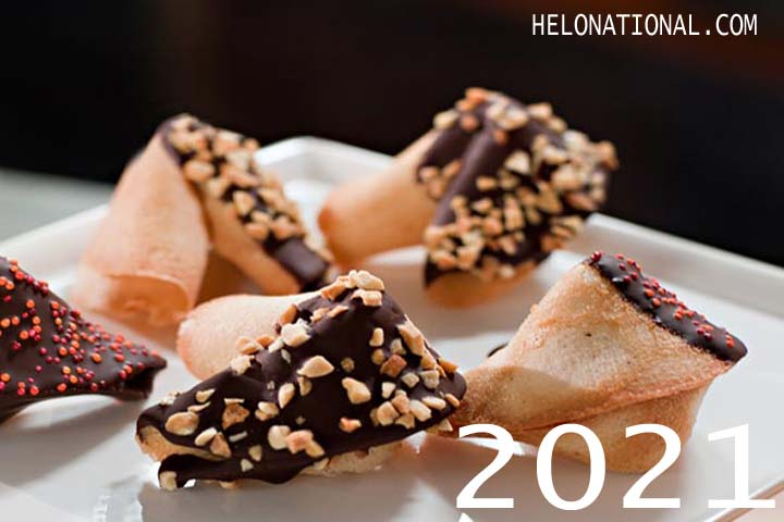 Hny 2021 White Chocolate Fortune Cookies