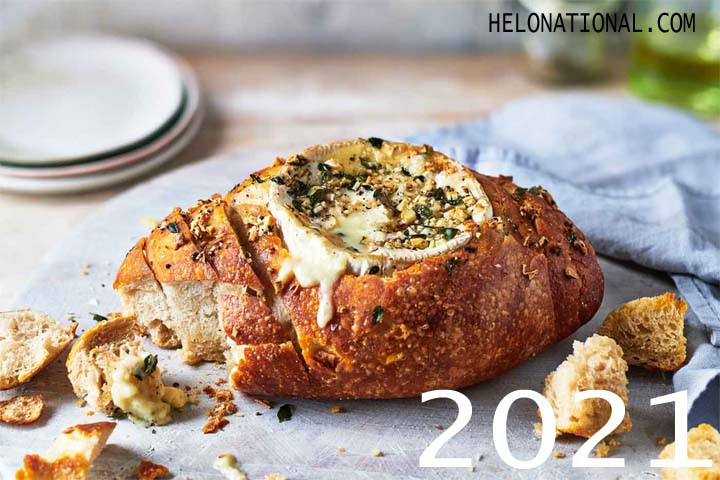 New year baked Cheese Bread Flower
